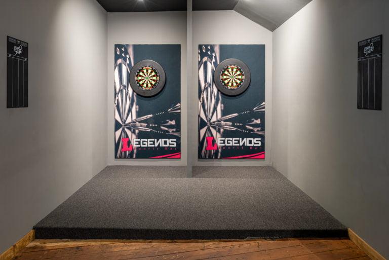 Darts lanes at Legends Sports Bar Aberdeen