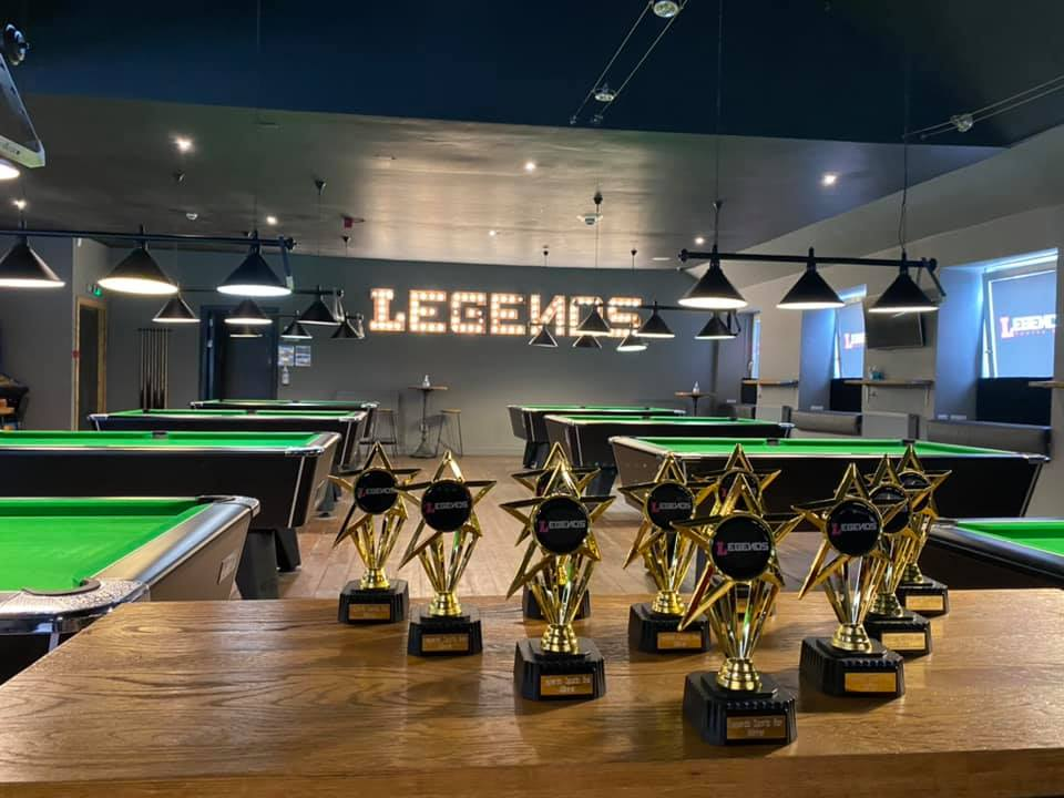 Winners trophies for Pool competitions